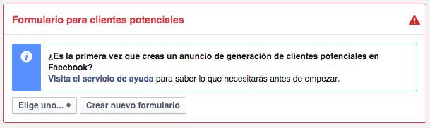 como crear formulario de facebook lead ads